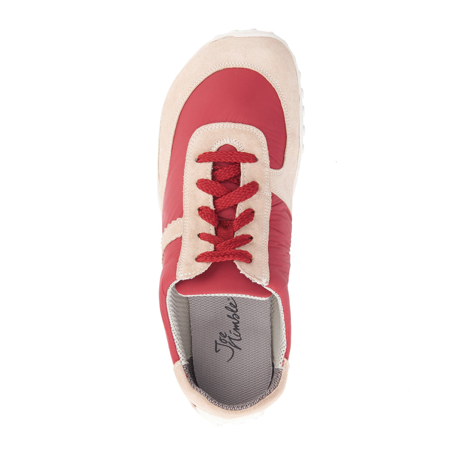sneakToes d beige/red