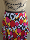 Diane Von Furstenberg (DVF) High Waisted Geometric Pattern Multicolour Skirt Women's Size 8