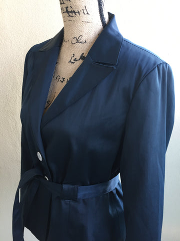 Harry Levine Beautiful Classic Navy Belted Blazer Women's Size 8 NWOT