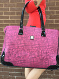 Diane Von Furstenburg Luxurious Travel Bag With Iconic DVF Logo And Patent Leather Accents