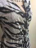 Michael Kors Gorgeous Tiger Print Wrap Dress Ladies Size Small
