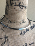 T A R A • CHOKER ~ Gorgeous Gunmetal Necklace With Funky Closure