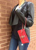 Coach Perfectly Stylish And Compact Red Wristlet with Classic C Logo