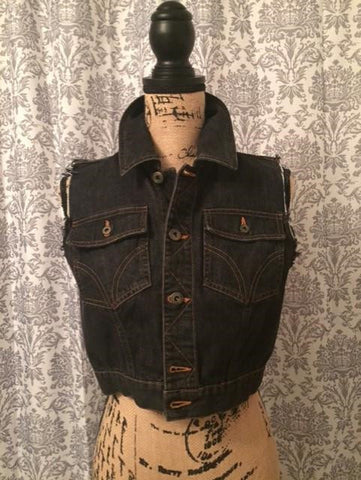 Dolce & Gabbana Denim Button Up Vest Women's Size Medium