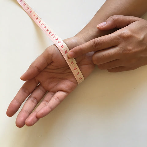 How to measure your hand for the perfect bangle fit.
