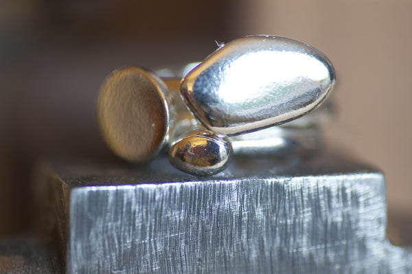 SALE: Organic Shape Stacking Pebble Rings