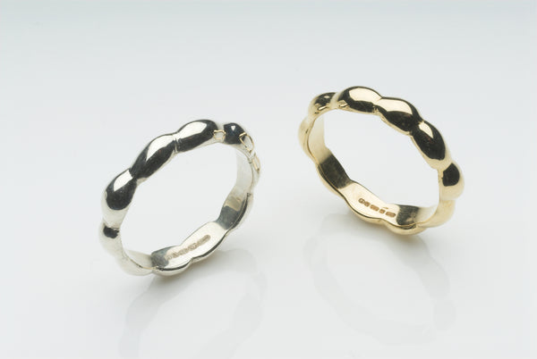 Seaweed inspired Kelp Wedding Ring in silver, 14 ct gold or 18 ct gold