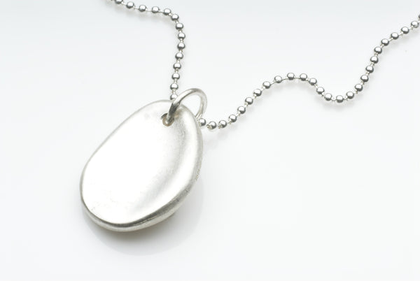 Silver Worry Stone necklace - anti anxiety jewelry by Michele Wyckoff Smith