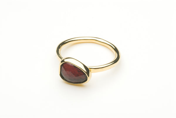 Faceted pink tourmaline and gold ring by Michele Wyckoff Smith.