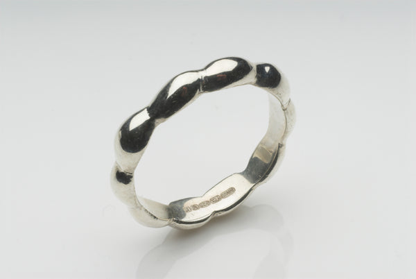 Silver Kelp Ring inspired by coastal New England on www.wyckoffsmith.com