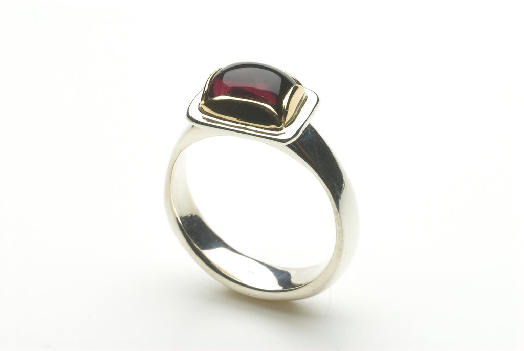 Medieval Inspired Pink Tourmaline Ring
