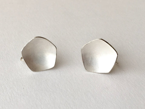 Silver Calyx Screw Back Non-pierced Earrings