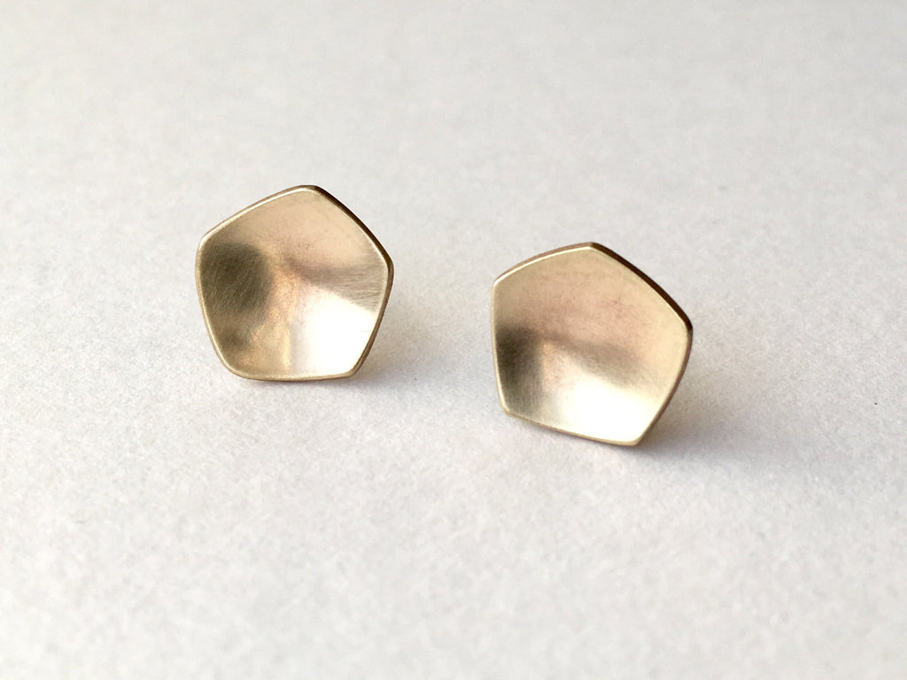 9 ct gold Calyx earrings