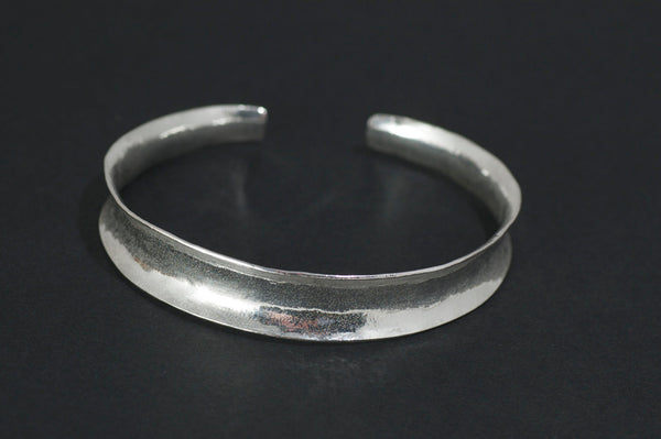 Silver Anticlastic Curved Cuff