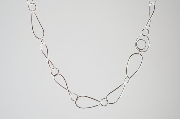 Silver Twisted Petal Chain showing the clasp  on www.wyckoffsmith.com
