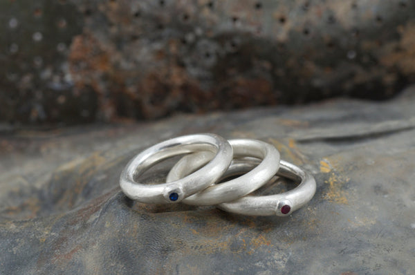 Chunky Silver Stacking Rings