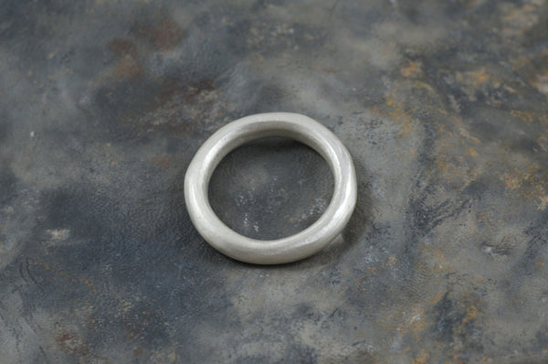 Chunky Silver Men's Engagement Ring