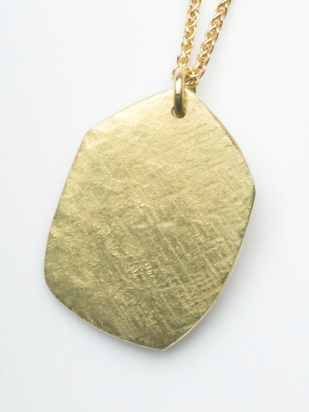 18 ct Gold Textured Dog Tag