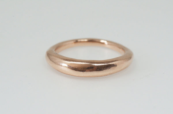 Single 14 ct gold Modern Stacking Ring by Michele Wyckoff Smith