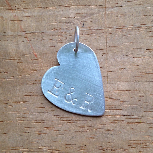 Personalized Heart pendant with up to 3 initials