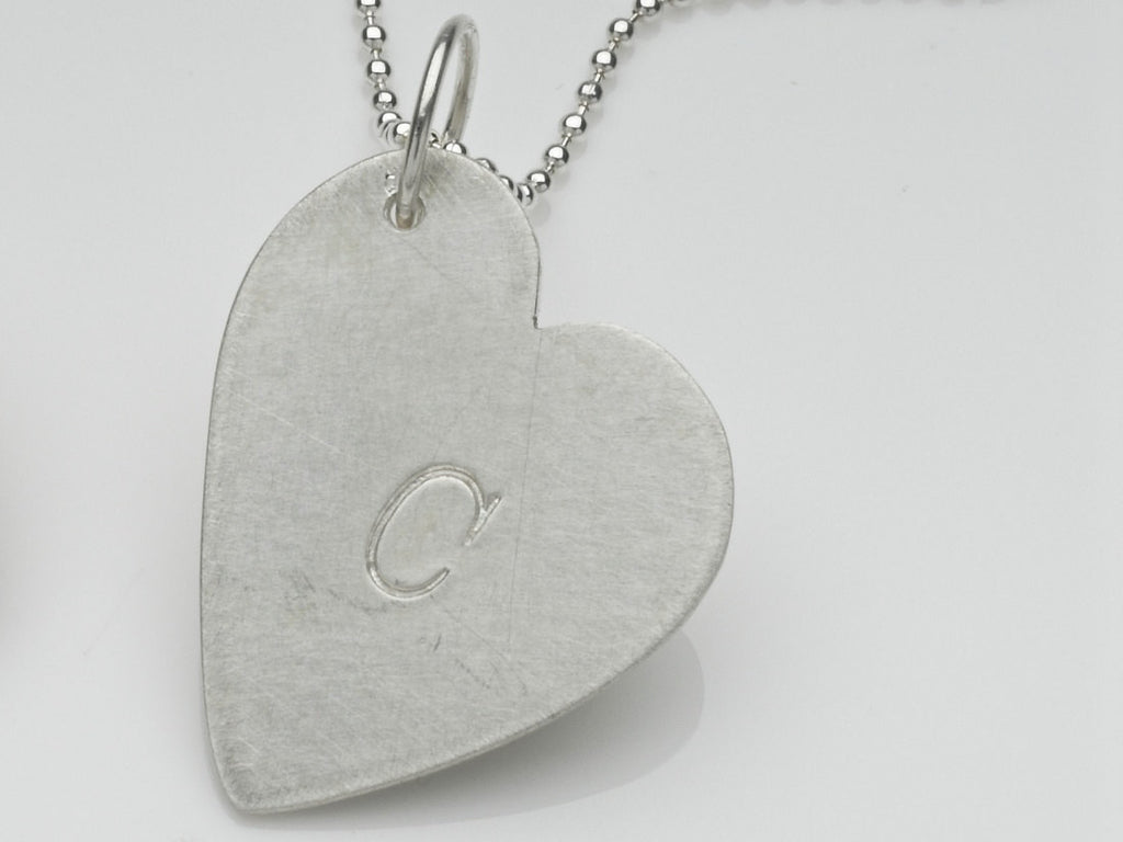 Wyckoff Smith Jewellery - Personalised silver heart pendant