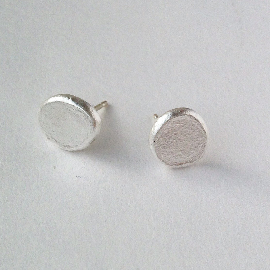 Simple Textured Sterling Silver Shen Earrings