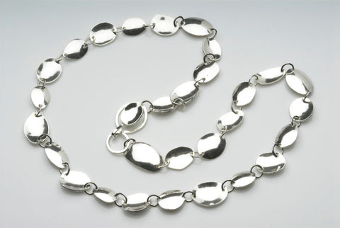 Silver Fishing Spinner Inspired Chain