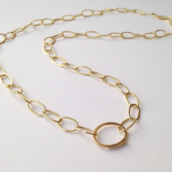 Handmade 18 ct gold chain by Michele Wyckoff Smith