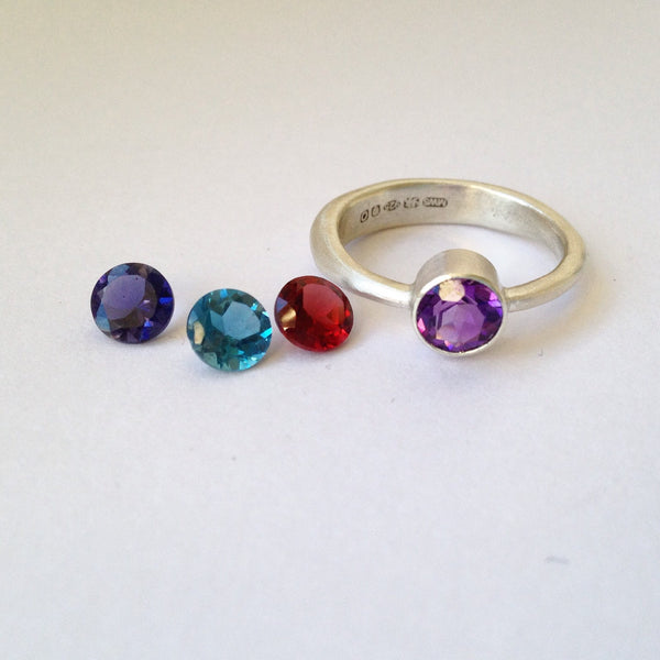 Modern Stacking Gemstone Rings