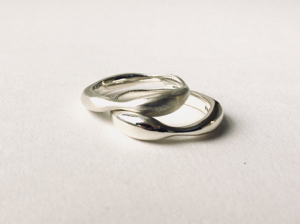 Silver stacking Sargasso Rings by Michele Wyckoff Smith