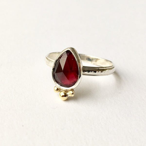 Garnet ring by Michele Wyckoff Smith