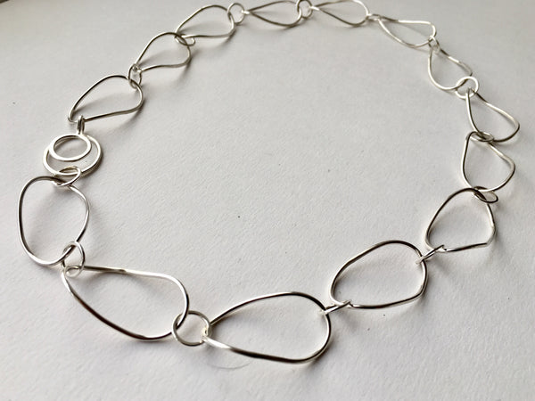 Twisted Petal Silver Chain