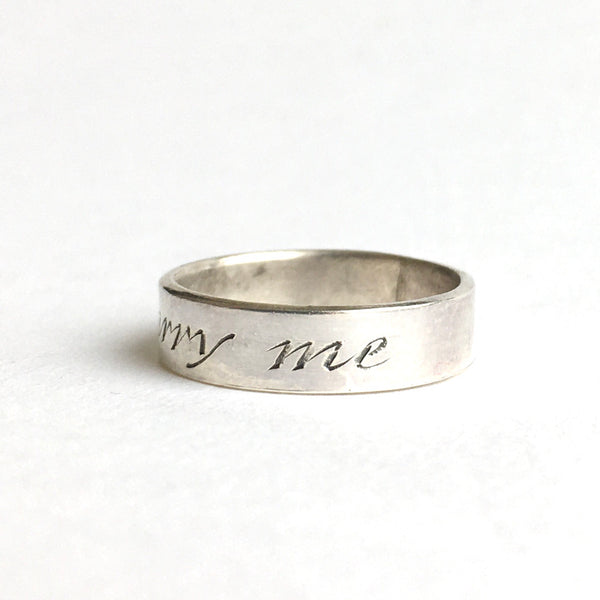 Marry Me ring - alternative engagement ring - Wyckoff Smith Jewellery