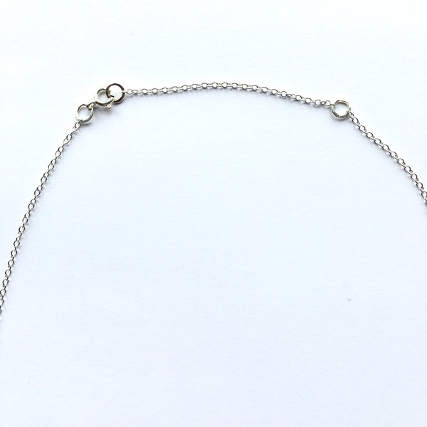 "Adjustable silver chain for 16"" or 18"" options www.wyckoffsmith.com"