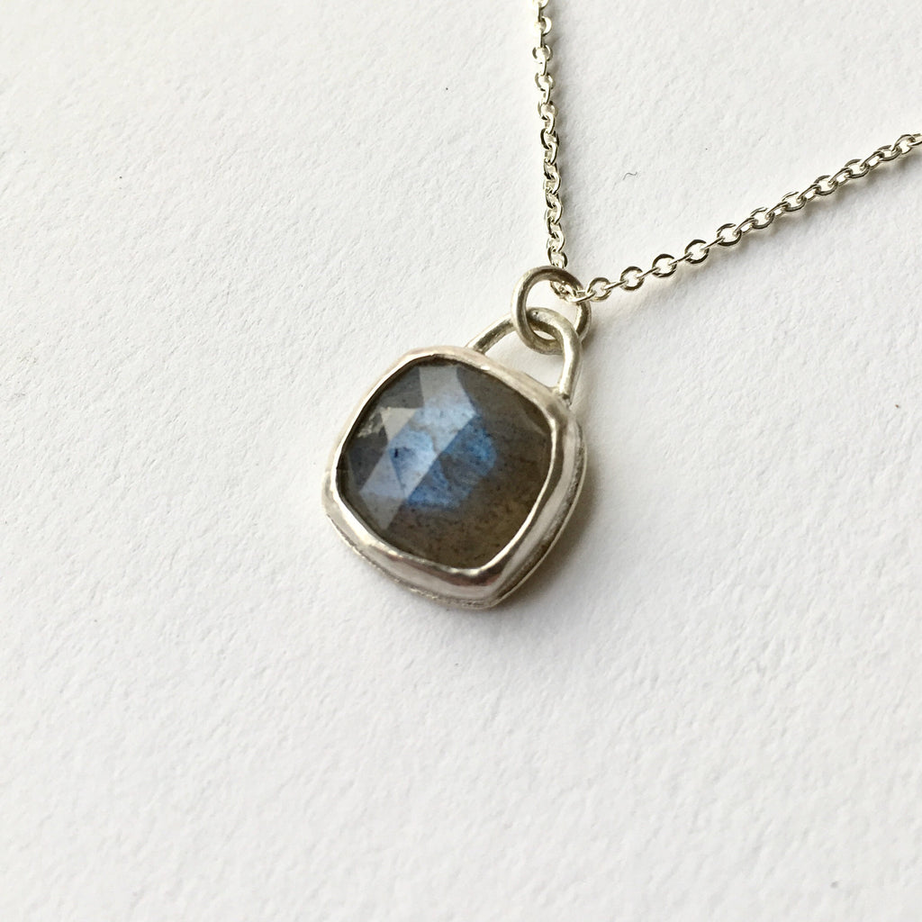 Square labradorite pendant by Michele Wyckoff Smith