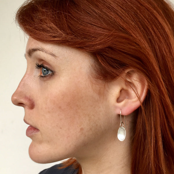Oval Dangle Spinner Earrings
