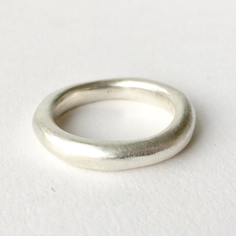 Chunky Silver Wedding Ring