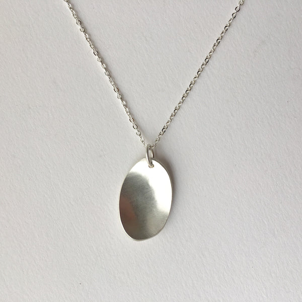 Medium Concave Oval pendant