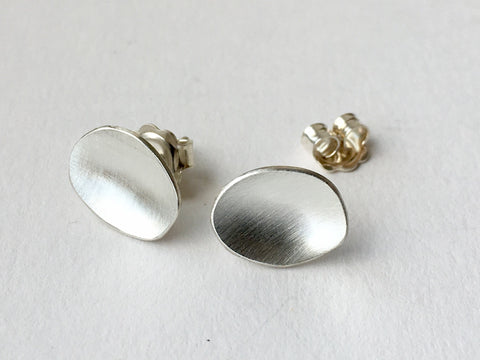 Medium Concave Post Earrings