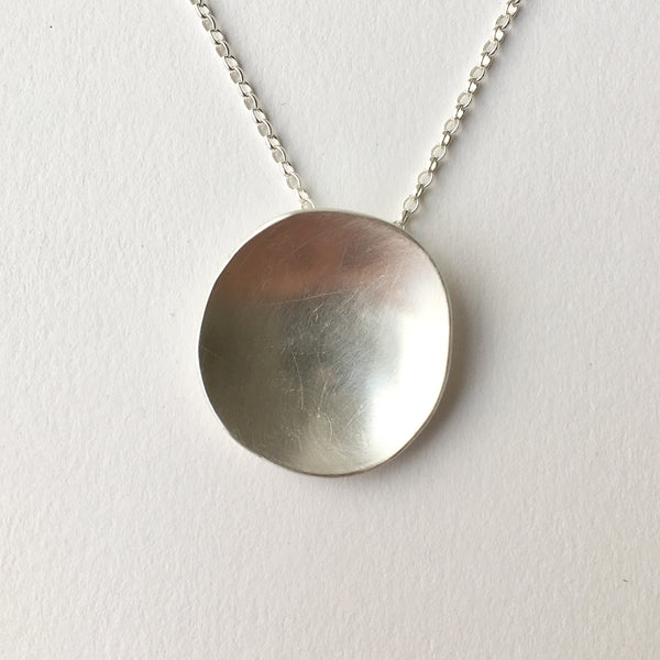 Concave organic shaped oval pendant by Michele Wyckoff Smith