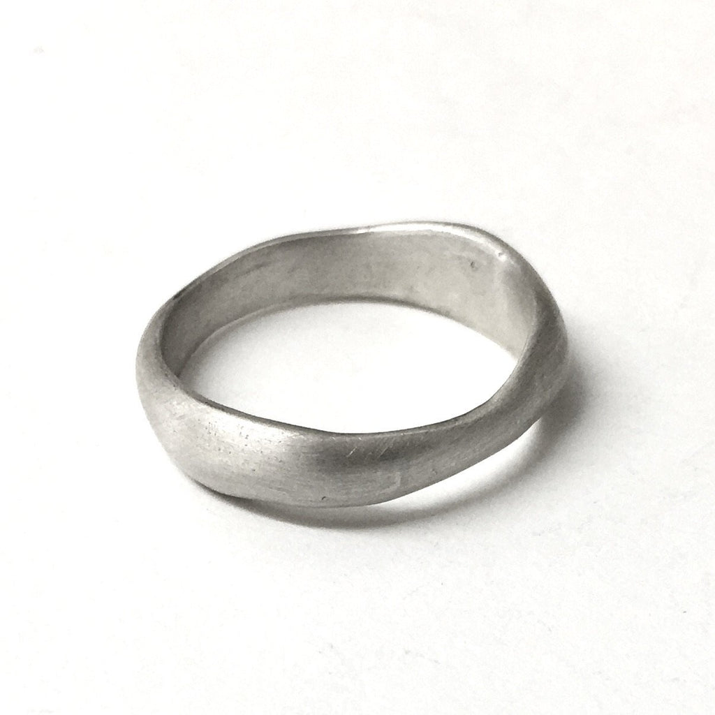 Uma Ring - organic shaped wedding ring by Michele Wyckoff Smith