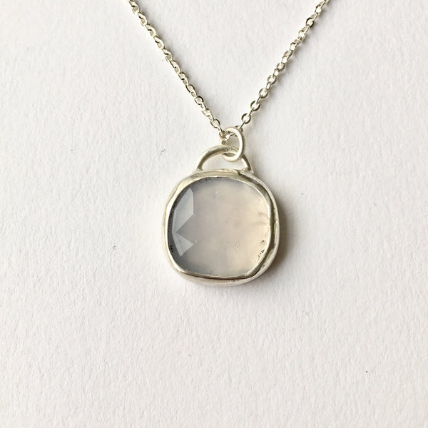 Pale violet blue pendant by Michele Wyckoff Smith