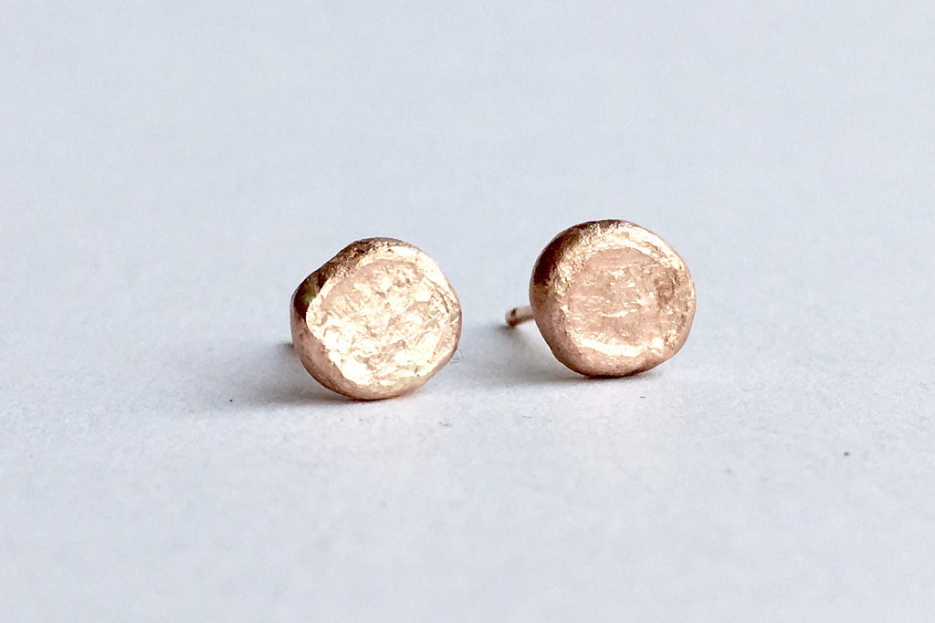14 ct rose gold stud Shen earrings by Michele Wyckoff Smith