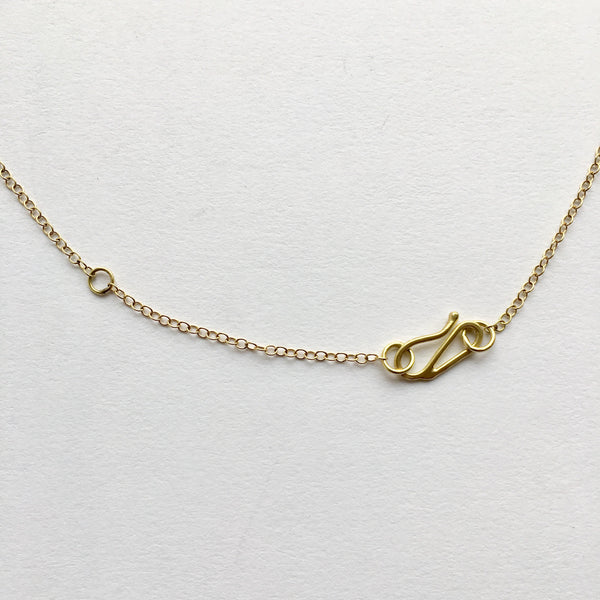 Adjustable 18 ct gold chain with S hook by Wyckoff Smith Jewellery