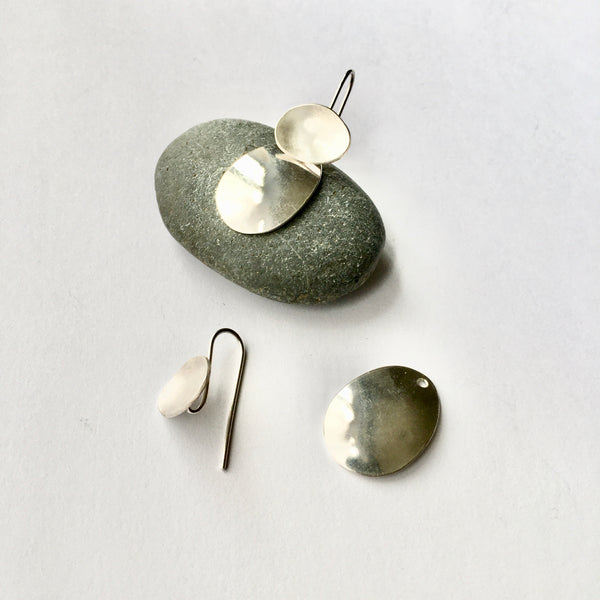 Option 1: Oval earrings with removable concave oval dangle on www.wyckoffsmith.com