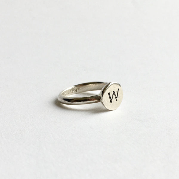 SALE: Monogrammed M or W Signet Ring
