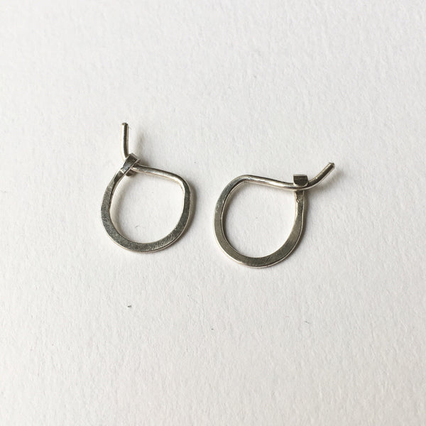 small hand forged silver hoop earrings - Wyckoff Smith Jewellery