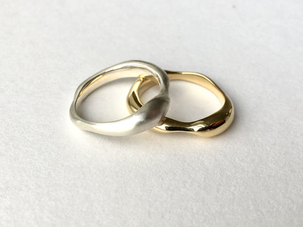 18 ct gold and silver Sargasso Rings by Michele Wyckoff Smith