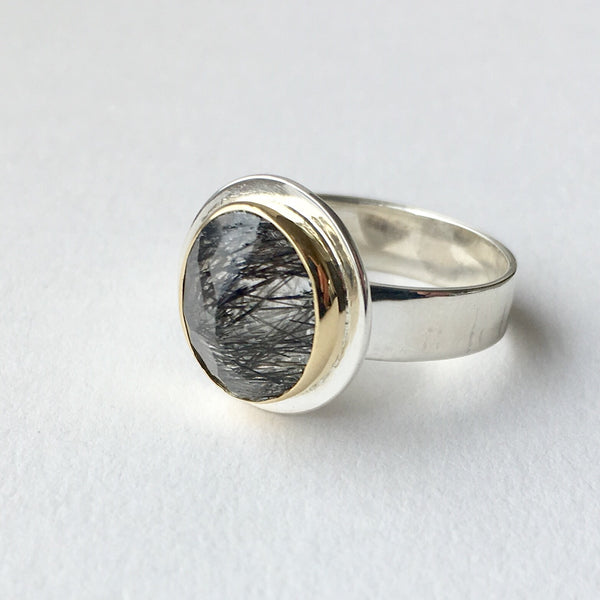 Rutilated quartz ring by Michele Wyckoff Smith.