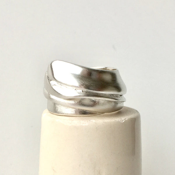 Abigail cast silver wrap ring by Michele Wyckoff Smith Jewellery.